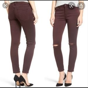 DL1961 Margaux Ankle Skinny Distressed Jeans NWT